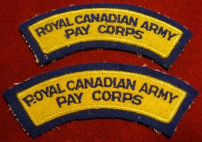 Canada: Royal Canadian Army Pay Corps shoulder flashes (set of 2)