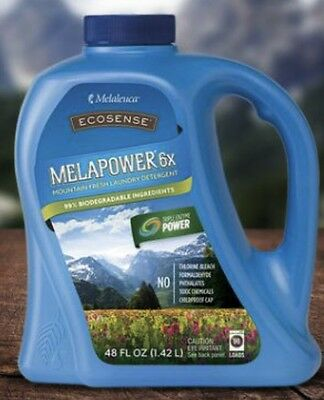 Melaleuca MELAPOWER 6X Big 48 Oz Mountain Fresh Laundry Detergent Ecosense