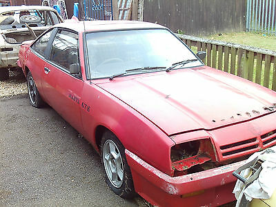 Opel Manta B: Gte Coupe .1984 . Spares Or Restoration .