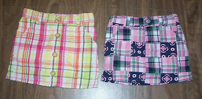 Gymboree Plaid Skorts Girls size 4 Scooter Skirt Lot of 2