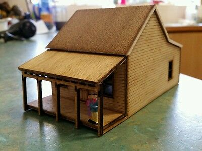 HO scale  laser cut  country timber board cottage kit