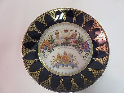 1902 Coronation Plate King Edward VII Queen Alexandra NEAR MINT antique