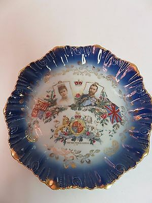 1911 Coronation Plate King George V Queen Mary NEAR MINT antique