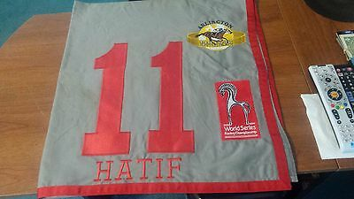 Horse Racing Race Worn Saddle Cloth for Hatif (BRZ) Arlington Million Stakes