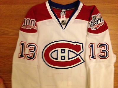 Alex Tanguay Game Worn Used Montreal Canadiens 2 patch Jersey Avalanche Flames
