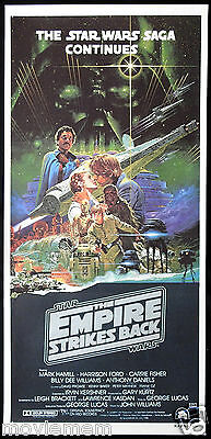 THE EMPIRE STRIKES BACK Original Daybill Movie Poster STAR WARS Noriyoshi Ohrai