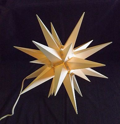 "Large Vintage Light Up Christmas Star 14"" Holiday Collectible"