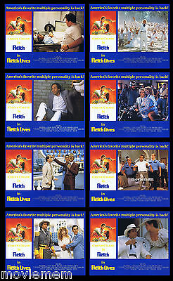 FLETCH LIVES Rare LOBBY CARD SET Chevy Chase Gone with the Wind Style art