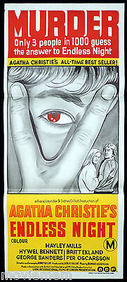 ENDLESS NIGHT Original Daybill Movie Poster Agatha Christie Hywell Bennett