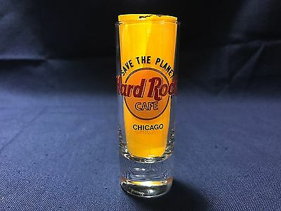 "Hard Rock Cafe CHICAGO Illinois Save The Planet 4"" Shooter Double Shot Glass"