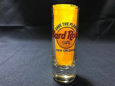 "Hard Rock Cafe NEW ORLEANS LA Save The Planet 4"" Shooter Double Shot Glass"