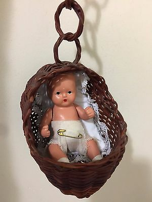Nancy Ann Story Book Baby Doll All Bisque Miniature Baby, Hush-A-Bye-Baby
