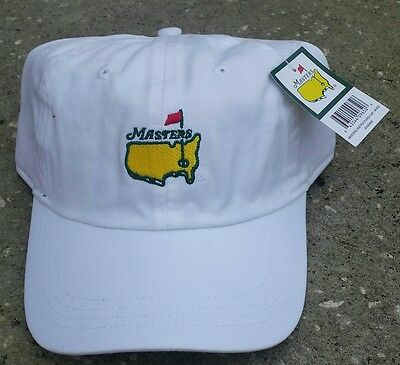 Augusta Masters Brand New White Adjustable Slouch Hat Free Shipping