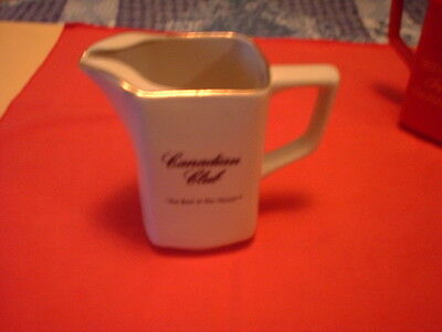 "Canadian Club - "" The Best In The House "" - Glass Pitcher"