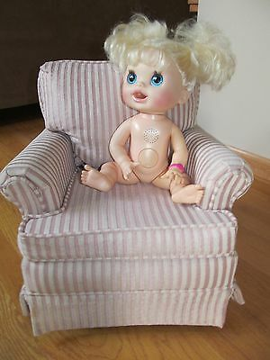 Fabric Upholstered Child Toddler Life Size Like Doll Chair High Quality Sturdy