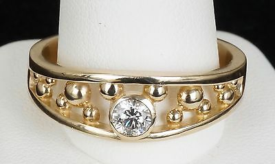 14k Yellow Gold Mickey Mouse Men's Disney Ring Band Size 12