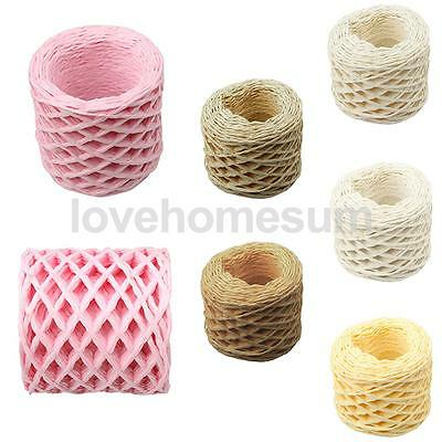 30 Meters Colorful Raffia Paper Ribbon Rope Cords for Gift Wrap String Crafts