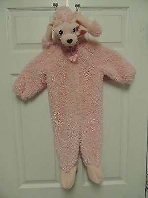 MINIWEAR Pink Poodle Infant Halloween Costume Baby Toddler 12M One Piece