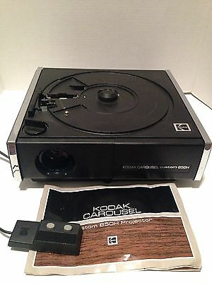Kodak Carousel Custom 850H Slide Projector With Slide Tray & Remote TESTED GREAT