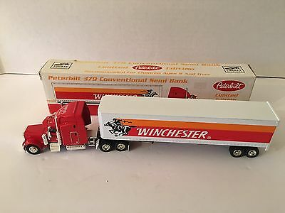Winchester Peterbilt 379 Conventional Semi Bank Collectable Diecast Metal Truck