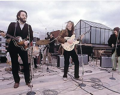 The Beatles On The Rooftop Concert  1969  8X10 Photo  #101