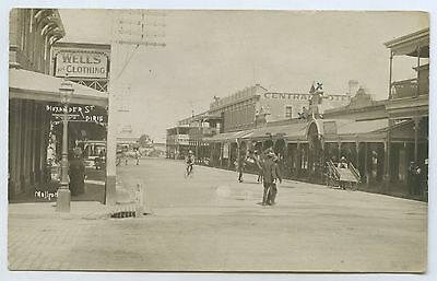 C1908 Rp Pu Postcard Central Hotel Wells Clothing Store Pt Pirie Sa J9