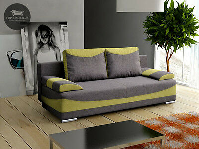 - DIEGO - 3 seater Sofa Fabric Comfy Couch Padded Cushions