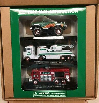 Hess 2017 Mini Truck Collection Limited Edition New 3 pack. Sealed shipping box