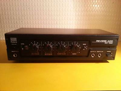 Roland RV-100 Vintage Analog Spring Reverb with power converter.