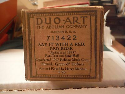 Duo-Art Roll-Sa it With a Red, Red, Rose    fox trot       713422