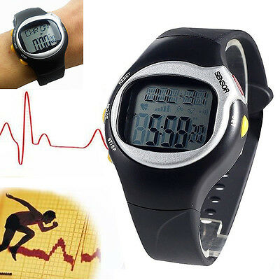 New Pulse Heart Rate Monitor Calorie Counter Sport Running Fitness Wrist Watch