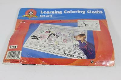 Looney Tunes Coloring Cloths Set of 2 NEW IN PACK! RARE GREAT FUN!
