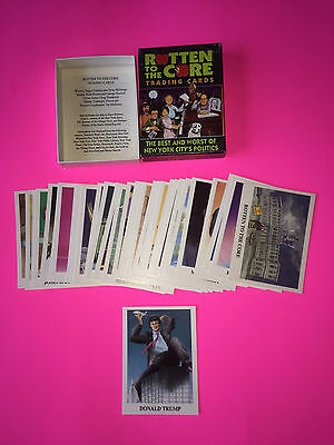 Donald Trump Rookie Card - Eclipse 1989 - Rotten To The Core Full Set - Mint