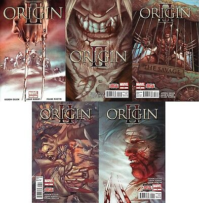 Origin II #1-5 Complete Set