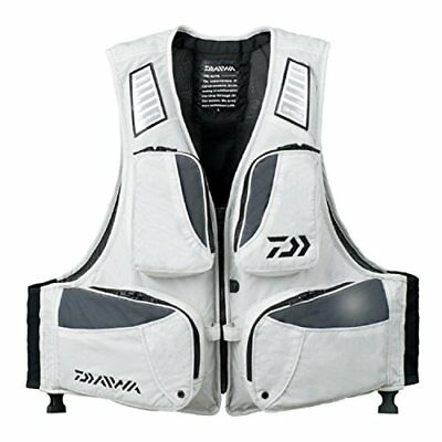 2017 MODEL DAIWA LIGHT FLOAT GAME VEST DF-6307 S SIZE WHITE from JAPAN F/S New!