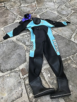 Ladies Tusa X-Pert Drysuit Size Small - Hood & Bag Included