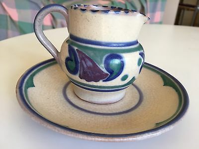 Poole Pottery Mug And Saucer Paisley Pattern Art Deco
