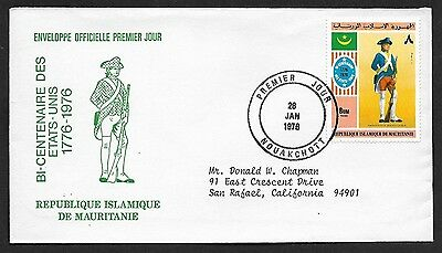 (111cents) Mauritania 1976 Centenary of Estates First Day Cover