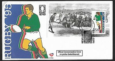 (111cents) South Africa 1995 Rugby World Cup First Day Cover