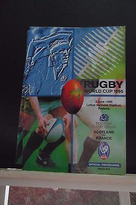 1995 WORLD CUP SCOTLAND V FRANCE    rugby union