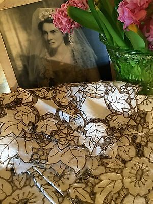 Nanna Technology Antique Vintage Handmade Lot Of Cotton Doilies Embroidered