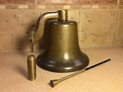 Large Vintage Brass Ship's / Dinner Bell Very Heavy