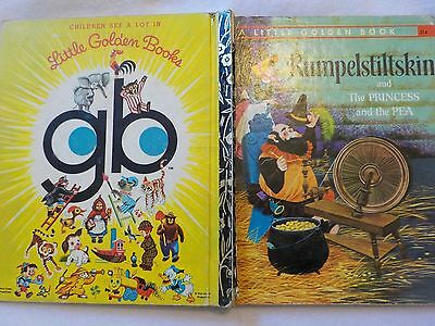 1970s (1973) Little Golden Book Rumpelstiltskin and The Princess and the Pea