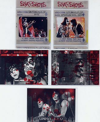 Kiss 360 cards (2) Snapshots Clear Acetate insert + (3) Blood parallel cards