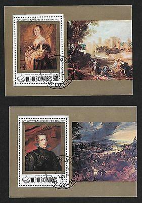 (111cents) Republique Des Comores Painting S/S x2