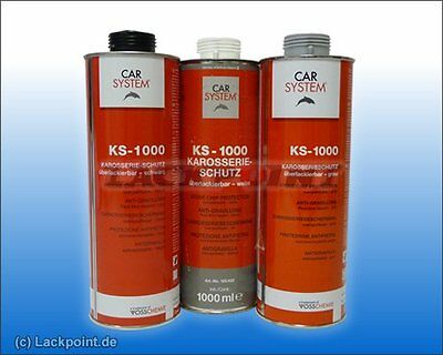 3 x 1 L Top Body UNDERBODY COATING BLACK KS-1000 CARSYSTEM GP / L =