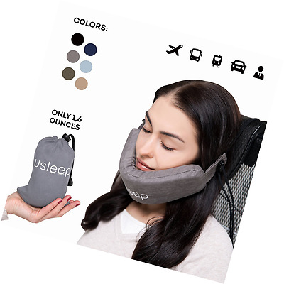 Travel Pillow Neck Stability Ergonomic Position Lightweight Machine Washable New