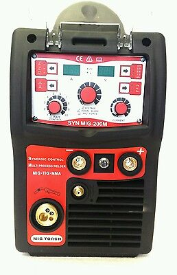 Simadre 3In1 Igbt Synergic Digital Mig Tig Mma/arc Welding Machine 200 Amp Sale