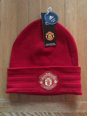 Adidas Man United Football Club Woolie Beanie Hat - Official Licensed Product