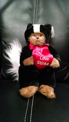 "The Bearington Collection ""LOVE STINKS"" BEAR AS SKUNK Plush STUFFED ANIMAL NWT"